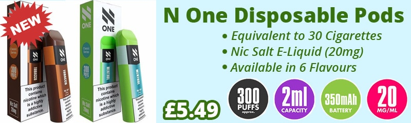 N One Disposable Pods 20mg Nic Salt | Puffin Clouds UK