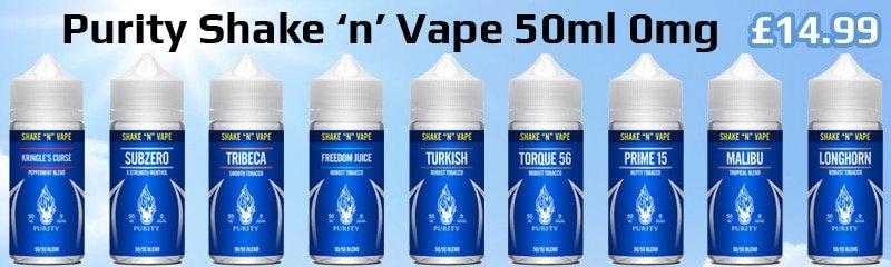 Purity Shake 'n' Vape 50ml 0mg | Puffin Clouds UK
