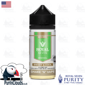 Royal Seven Sweet & Cool Menthol Shake n Vape E-Liquid (50ml 0mg) | Puffin Clouds UK