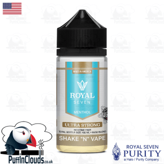 Royal Seven Ultra Strong Menthol Shake n Vape E-Liquid (50ml 0mg) | Puffin Clouds UK