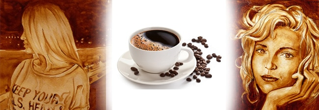Картины из кофе