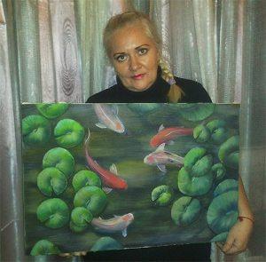 Картина «Рыбки Кои» для Жанны 2