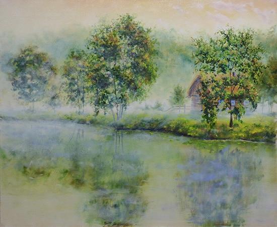 картина поэтапно рисуем туман