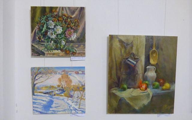 натюрморты на выставке
