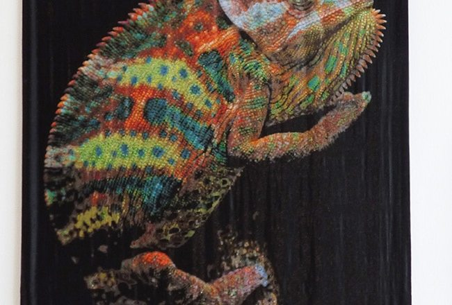 хамелеон из бисера