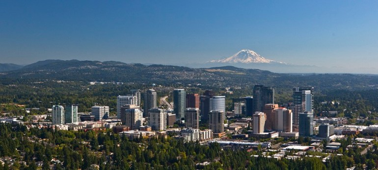 Bellevue Skyline with Mount Rainier