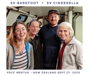 SV Cinderella and SV Barefoot crew meet up in New Zealand