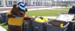 Brown Bear and Sweep trash