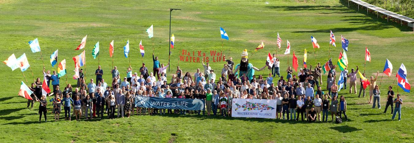 Waterkeepers from around the world at the annual retreat. Photo by John Wathen.