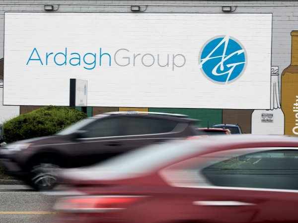 Ardagh Foundry Traffic whirs past Ardagh Group's glass foundry building. Photo by Matt McKnight