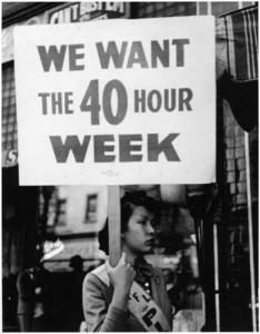 Demonstrator for Fair Labor Standards