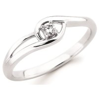 10K White Gold Diamond Promise Ring   Pughsdiamonds.com