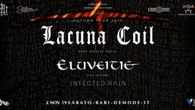 "Photo of [Music Live] LACUNA COIL, ELUVEITIE, INFECTED RAIN live concert @ ""Demodè Club"" Modugno (BA) – 2 novembre 2019"