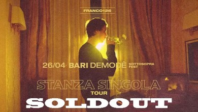 "Photo of [Music Live] FRANCO 126 ""Stanza Singola Tour"" @ ""Demodè Club"" Modugno (BA) – 26 Aprile 2019 – SOLDOUT"