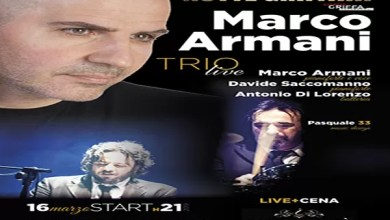 """Photo of [Music Live] MARCO ARMANI con DAVIDE SACCOMANNO e ANTONIO DI LORENZO live @ """"Palacecafè"""" Bari – 16 marzo 2019"""