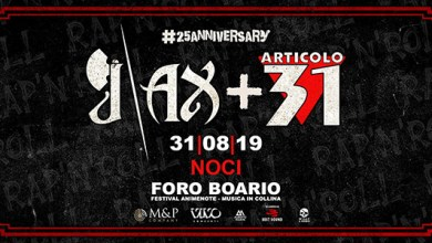 "Photo of [Music Live] J AX + ARTICOLO 31 live @ ""Foro Boario""  Noci (BA) 31 agosto 2019"