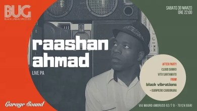 "Photo of RAASHAN AHMAD live ""Last BUG party"" @ ""Garagesound"" Bari – 30 marzo 2019"