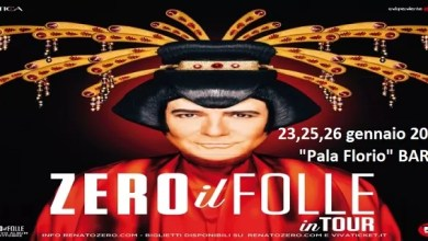 """Photo of [Music Live] RENATO ZERO """"Zero il folle"""" tour, aggiunta nuova data a BARI: 26 gennaio , biglietti dalle 11 di oggi su VivaTicket !"""