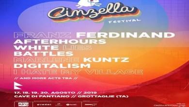 Photo of [Cinzella 2019] Definitiva la lineup del festival dedicato a musica e cinema, che illuminerà le Cave Di Fantiano di Grottaglie (Ta) dal 17 al 20 agosto.