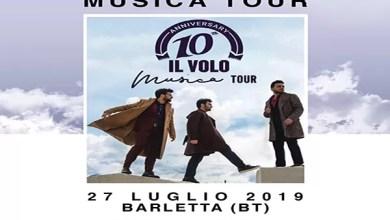 Photo of [Music Live] IL VOLO in Tour passerà dalla Puglia con due date: 27 luglio Barletta –  28 luglio Lecce