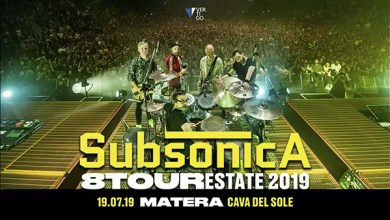 "Photo of [Music Live] SUBSONICA ""8 Tour Estate 2019"" @ ""Cava del sole"" MATERA – 19 luglio 2019"