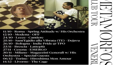 """Photo of [Music Live] VENERUS """"METAMORFOSI Tour"""" l'artista annuncia le prime date nei club @ """"Cantiere"""" Lecce – 24 ottobre 2019"""