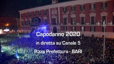 Photo of CAPODANNO 2020 in diretta da BARI su CANALE5 !