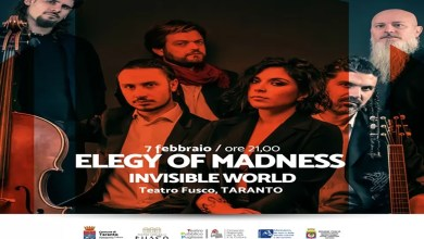 "Photo of [Music Live] ELEGY OF MADNESS ""INVISIBLE WORLD"" Tour – ""Teatro Fusco"" TARANTO, 7 febbraio 2020"