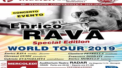"Photo of [Music Live] ENRICO RAVA ""Special Edition"" in concerto  ""Rava's 80th Anniversary – World Tour 2019"" @ ""Teatro Radar"" MONOPOLI – 4 dicembre 2019"