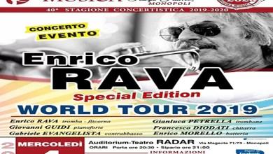 """Photo of [Music Live] ENRICO RAVA """"Special Edition"""" in concerto  """"Rava's 80th Anniversary – World Tour 2019"""" @""""Teatro Radar"""" MONOPOLI – 4 dicembre 2019"""