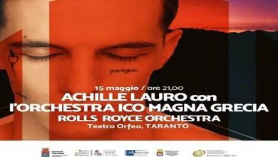 """Photo of [Music Live] ACHILLE LAURO & ORCHESTRA DELLA MAGNA GRECIA """"Rolls Royce Orchestra"""" @ """"Teatro  Orfeo"""" TARANTO – 15 maggio 2020"""