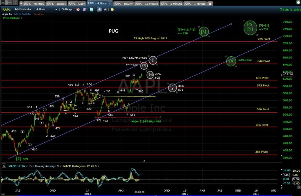 PUG AAPL 4-hr chart EOD 5-23-14