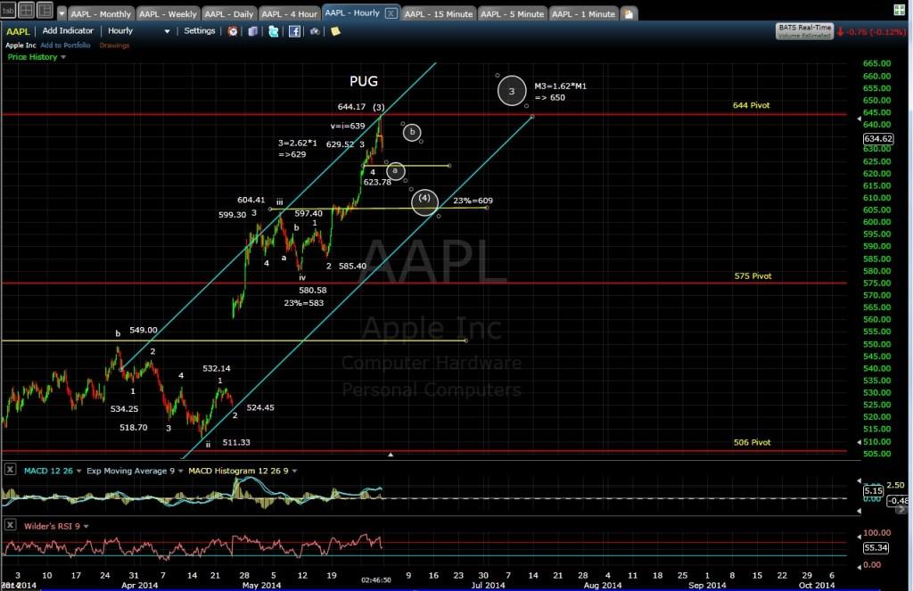 PUG AAPL 60-min chart MD 5-30-14