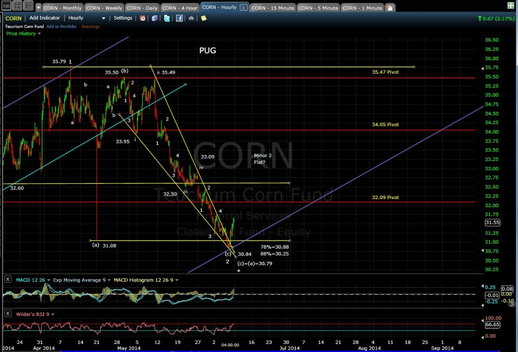 PUG CORN 60-min chart EOD 6-6-14