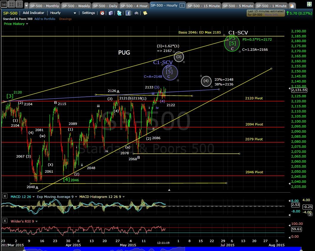 PUG SP-500 60-min chart 5-21-15