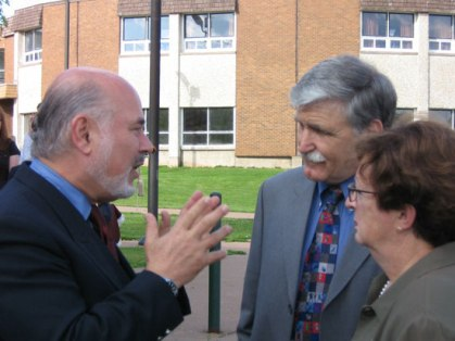 Jonathan Granoff with Sen. and Mrs. Romeo Dallaire
