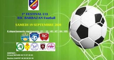 Tournoi – Participez au festival U11 de BARBAZAN