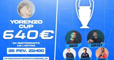 E-foot – Yorenzo organise sa compétition sur FIFA21 !