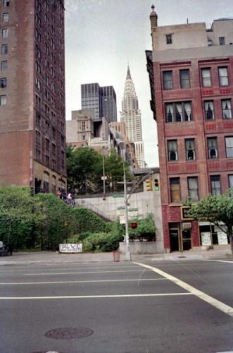 Chrysler Building vanaf Verenigde Naties