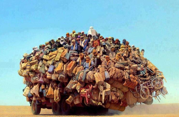 Image de migrants africains