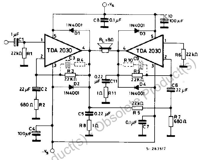 Solid State Guitar Amp Schematic