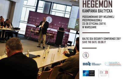 """Presenation of the report from the wargaming """"Hegemon Baltic Campaign"""" with participation of Philip M. Breedlove"""