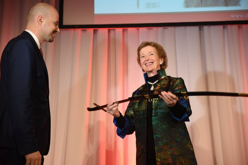 "Mary Robinson – ""Knight of Freedom"" of the Casimir Pulaski Foundation"