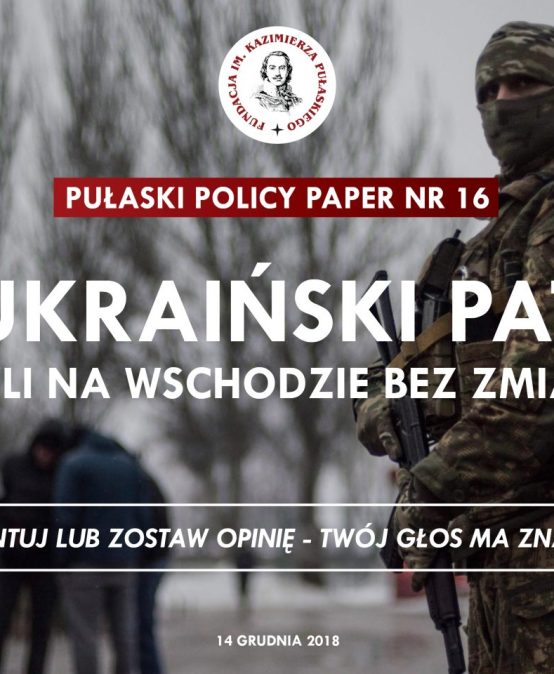 PULASKI POLICY PAPER: R. Lipka – Ukrainian stalemate: all quiet on the Eastern Front?