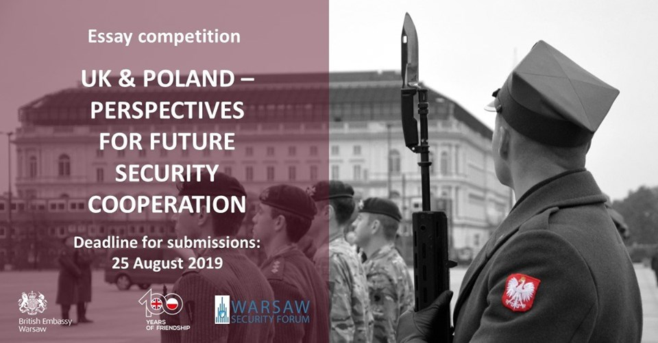 "Competition for the best essay ""UK & Poland – Perspectives for Future Security Cooperation""."