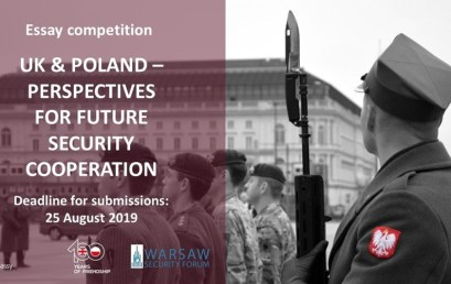 """Competition for the best essay """"UK & Poland – Perspectives for Future Security Cooperation""""."""