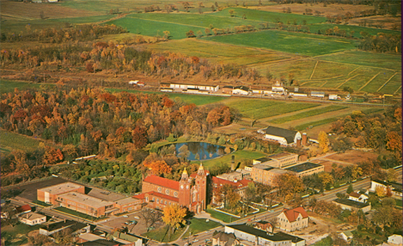 Aerial View of Pulaski, WI