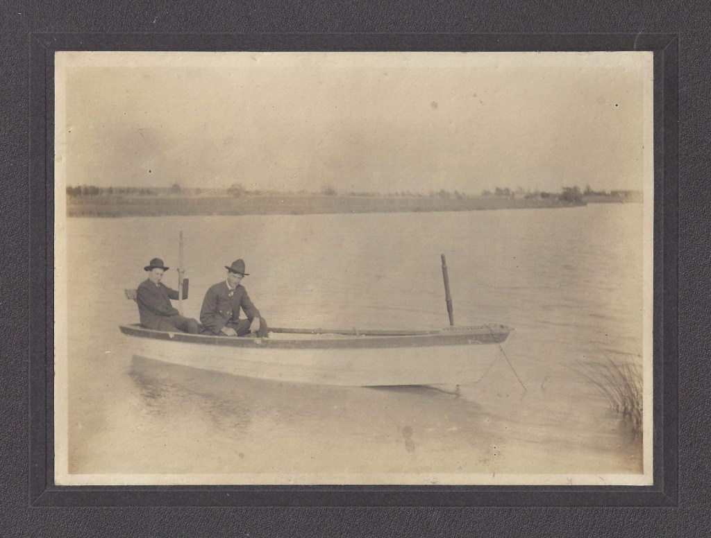 Two men fishing. Can you help identify these men or lake they are on. Photo from Maggie Gajewski