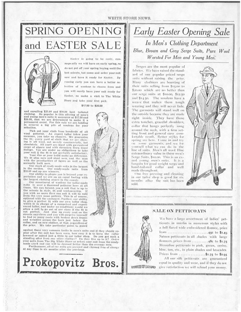 White Store News Easter Ads