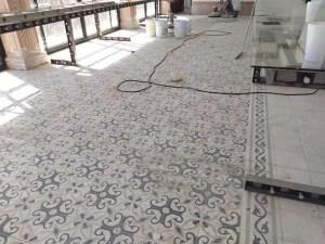 lavado y pulido de piso de mosaico